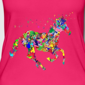 unicorno colorato - Top da donna ecologico