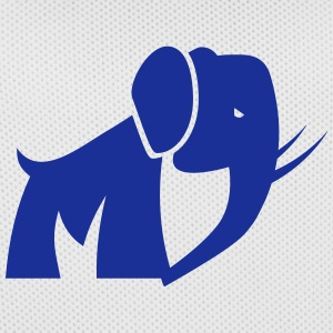 moderne elefant signet - Basketballdrakt for menn