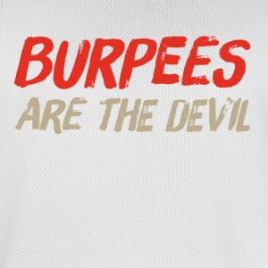 Burpees zijn de duivel - Mannen basketbal shirt