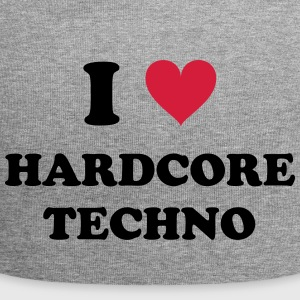 I LOVE hard-core TECHNO - Jersey-Beanie