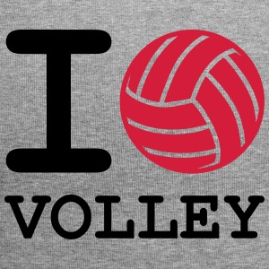i love volleyball - Jersey Beanie