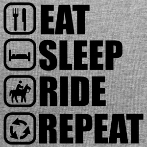 Eat, sleep, ride, riding, horse - Jersey Beanie
