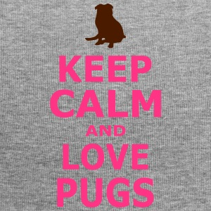 KEEP CALM AND LOVE PUGS - SIMPLE - Jersey Beanie