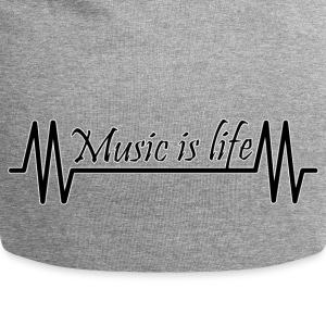 Music is life - Jersey-Beanie