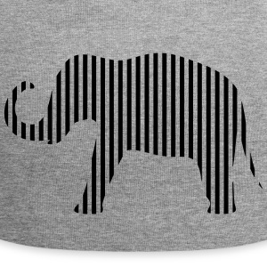 Olifant in strips - Jersey-Beanie