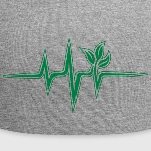 Plant frequency, pulse, heartbeat, green, vegan - Jersey Beanie