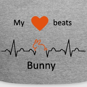 My heart beats for rabbits - Jersey Beanie