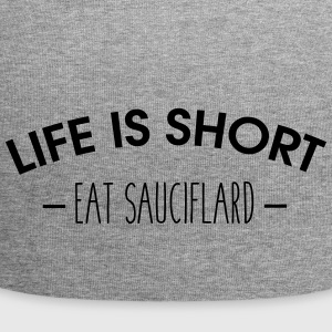 Life is short, eat sauciflard - Jersey Beanie