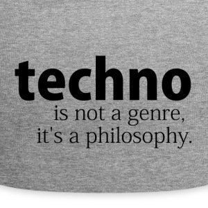 techno is not a genre - Jersey Beanie