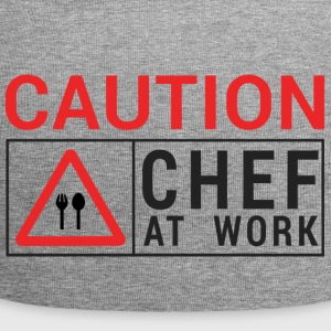 Koch / Chefkoch: Caution - Chef at work. - Jersey-Beanie