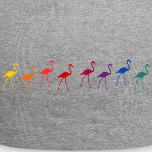 flamants roses - Bonnet en jersey