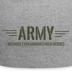 Military / Soldiers: Army - Because Even Marines - Jersey Beanie