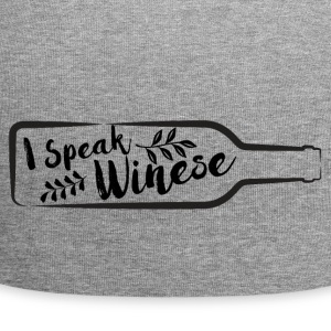 For wine lovers: I speak Winese - Jersey Beanie