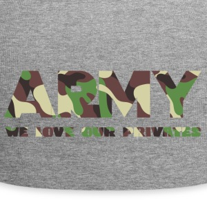 Military / Soldiers: Army - We Love Our Privates - Jersey Beanie
