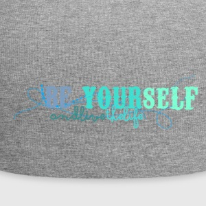 frase_png_beyourself_and_live_the_life_by_by_milii - Jersey Beanie