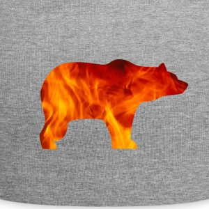 BEAR IN FIRE - Jersey Beanie
