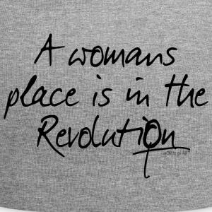 A womans place is in the Revolution - Jersey Beanie