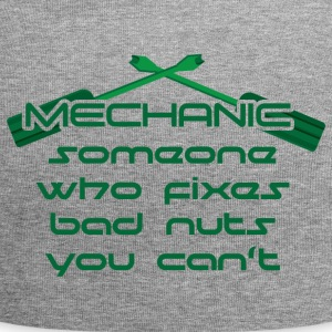 Mechanic: Someone Who Fixes Bad Nuts - Jersey Beanie