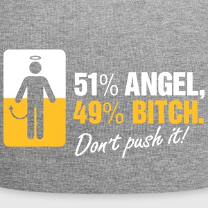 51% Angels 49 % Bitch. Don't Provoke Me. - Jersey Beanie