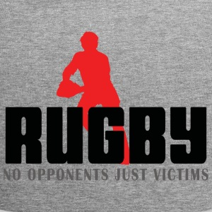 Rugby No Opponents Just Victims - Jersey Beanie
