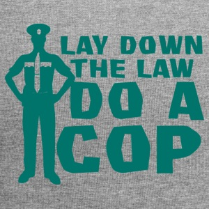 Polizei: Lay Down The Law Do A Cop - Jersey-Beanie