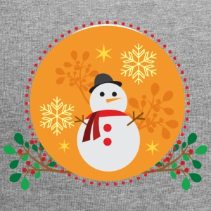 Snowman orange design - Jersey Beanie