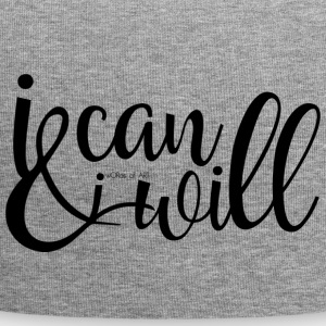 I can and I will Zitat - Jersey-Beanie
