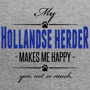 My Hollandse Herder makes me happy - Jersey-Beanie