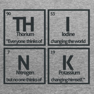 Periodic table elements: TH INK - Jersey Beanie