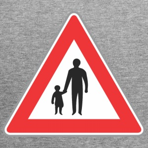 Road sign father with chilf - Jersey Beanie