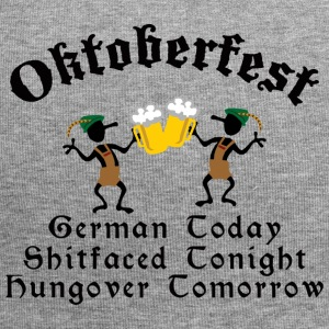 Funny Oktoberfest Drinking Beer Drunk Hungover - Jersey Beanie