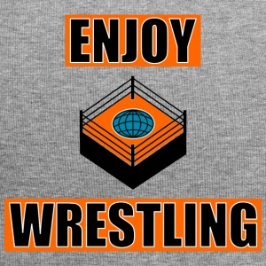 ENJOY_WRESTLING_ORANGE_DesASD - Czapka krasnal z dżerseju