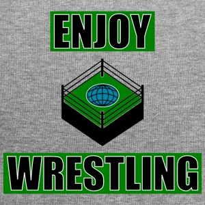 ENJOY_WRESTLING_GREEN_DesASD - Beanie in jersey