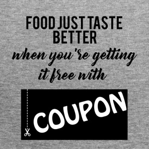 Couponing/Geschenke: Food just taste better ... - Jersey-Beanie