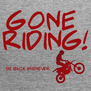 Biker / motorcycle: Gone Riding! Be Back Whenever. - Jersey Beanie
