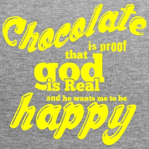 CHOCOLATE IS PROOF yellow - Jersey Beanie