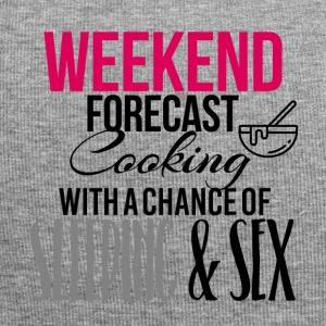 Weekend forecast cooking sleeping and sex - Jersey Beanie