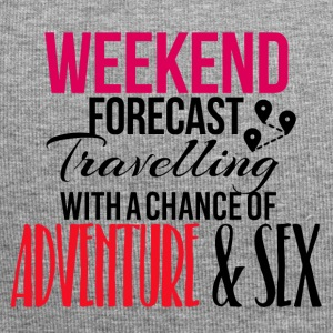 Weekend forecast travelling adventure and sex - Jersey Beanie