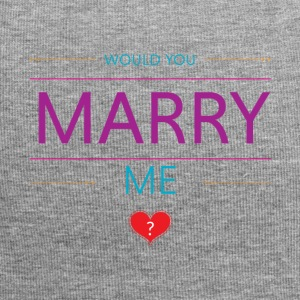 Would you marry me? <3 - Jersey Beanie