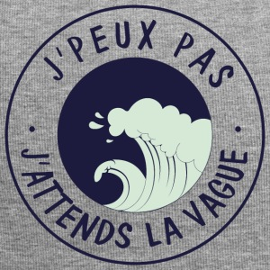 Je peux pas j'attends la vague - Bonnet en jersey