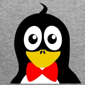 Penguin with red bow tie - Jersey Beanie