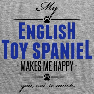 My English Toy Spaniel makes me happy - Jersey-Beanie