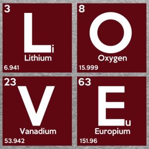 Periodic table elements: Li OV Eu - Love - Jersey Beanie