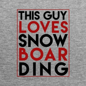 This Guy Loves Snowboarding - Boarder Power - Jersey Beanie