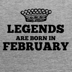 Legends are born in february - Jersey Beanie