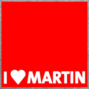 I heart Martin red with edge - Jersey Beanie