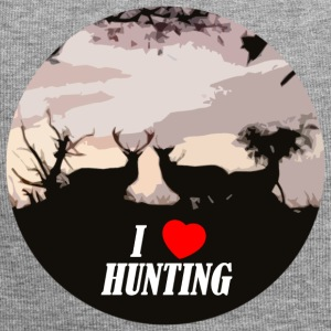 I love hunting - Bonnet en jersey
