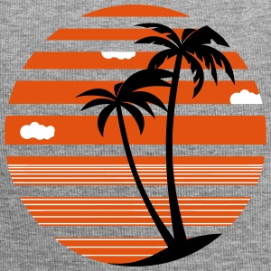 Palm trees vacation sea beach 04 AllroundDesigns - Jersey Beanie