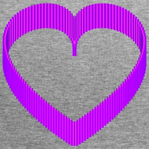 Pixel 3D Purple Heart rond design - Jersey-Beanie