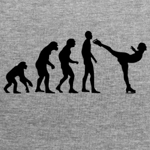 Human Evolution Ice Skating - Jersey Beanie